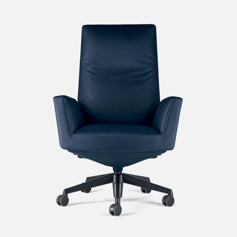 Poltrona Frau Chancellor Chair.Chancellor High Back With Castors Chair By Lievore Altherr