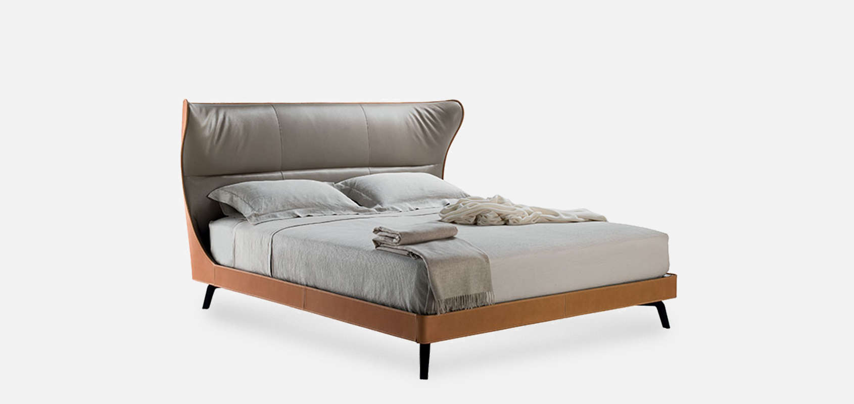 Poltrona Frau Mamy Blue Bed.Mamy Blue Bed By Roberto Lazzeroni For Poltrona Frau